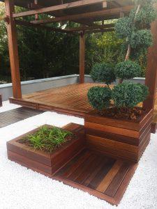 Realizácia drevených terás a doplnkov z exotických drevín od návrhu po realizáciu
